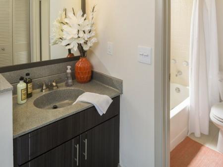 En suite bathroomsat Siena Apartments in Plantation FL