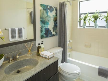 bathroom atat Siena Apartments in Plantation FL