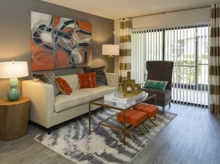 Living roomsat Siena Apartments in Plantation FL