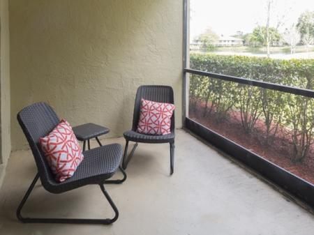 Screened porchat Siena Apartments in Plantation FL
