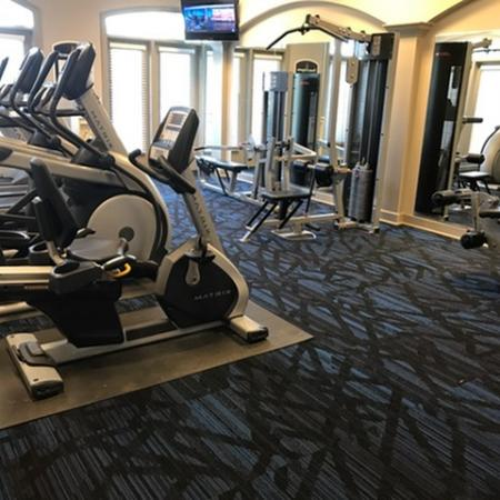 Newly Renovated Fitness Center at The Belvedere Apartments in North Chesterfield, VA