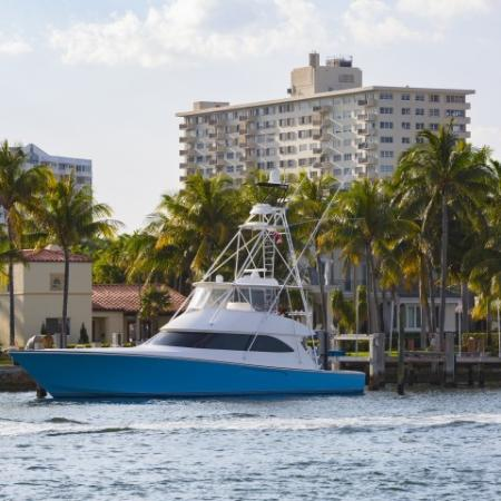 Intracoastal waterway at ORA Flagler Village Apartments in Fort Lauderdale, Florida