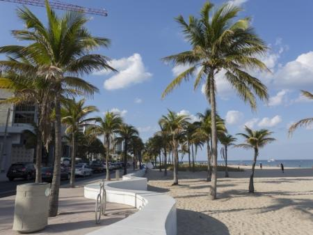 A1A beachfront drive at ORA Flagler Village Apartments in Fort Lauderdale, Florida