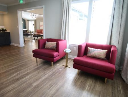 Leasing office waiting area at Sorelle Apartments in Moreno Valley CA