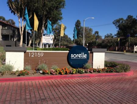 Entry gate at Sorelle Apartments in Moreno Valley CA