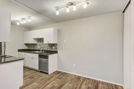 Wood-inspired flooring at Sora Apartments in Union City CA
