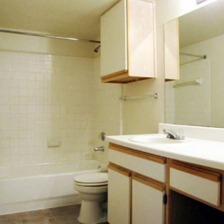 Bathroom at Valley Trails Apartments in Irving, TX