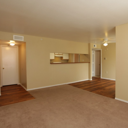 Living area at Valley Trails Apartments in Irving, TX