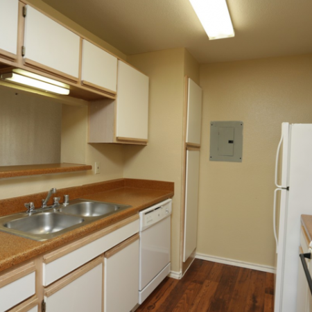Kitchen at Valley Trails Apartments in Irving, TX