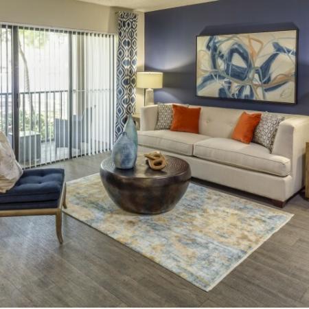 Living room at Hidden Harbor Apartments in Royal Palm Beach, FL