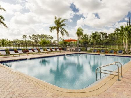 Pool at Hidden Harbor Apartments in Royal Palm Beach, FL