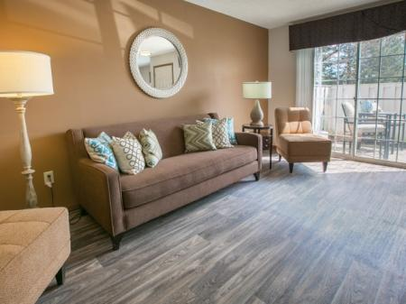 Spacious living areas at Heathermoor Apartments in Columbus, OH
