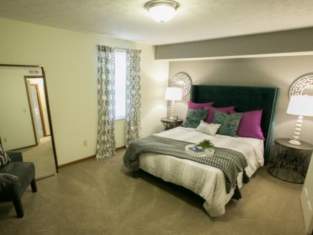 Large bedroom at Mallard's Crossing Apartments in Medina, Ohio