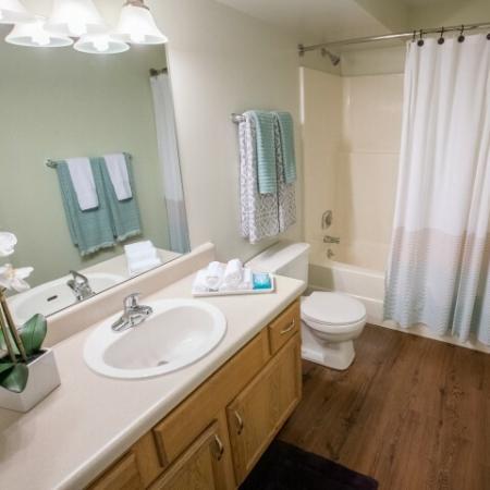 Bathroom at Mallard's Crossing Apartments in Medina, Ohio