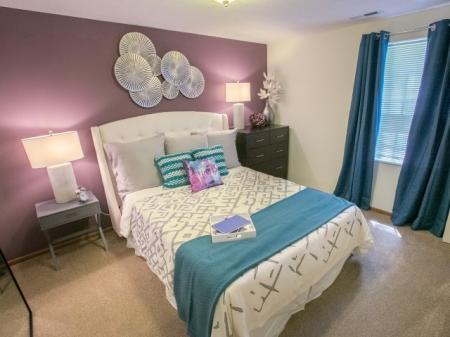 Bedroom at Mallard's Crossing Apartments in Medina, Ohio