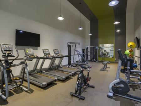 Treadmills at Adler at Waters Landing Apartments in Germantown, MD
