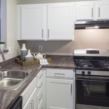 Kitchen at Adler at Waters Landing Apartments in Germantown, MD