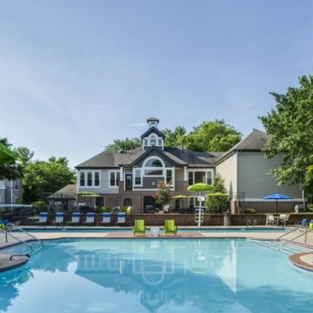 Swimming pool at Adler at Waters Landing Apartments in Germantown, MD