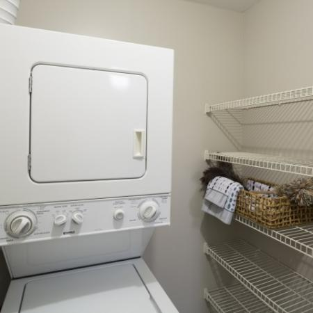 In-home washer and dryer at Adler at Waters Landing Apartments in Germantown, MD