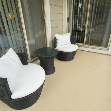 Private Patio at Adler at Waters Landing Apartments in Germantown, MD