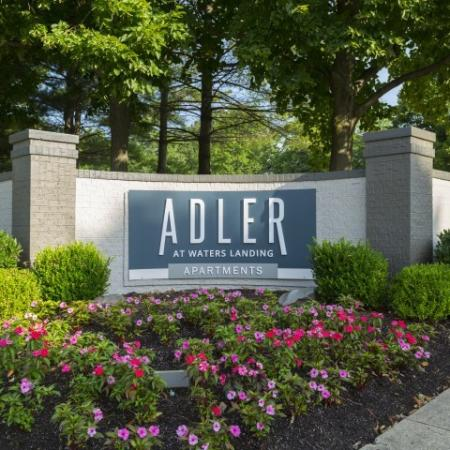 Monument Sign at Adler at Waters Landing Apartments in Germantown, MD