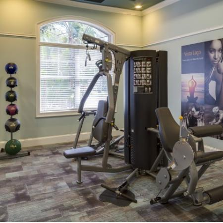 Strength Training Center at Vista Lago Apartments in West Palm Beach, Florida