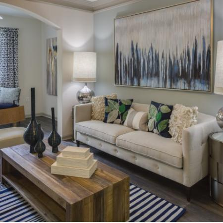 Living room at Vista Lago Apartments in West Palm Beach, Florida