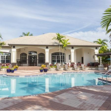 Pool at Vista Lago Apartments in West Palm Beach, Florida