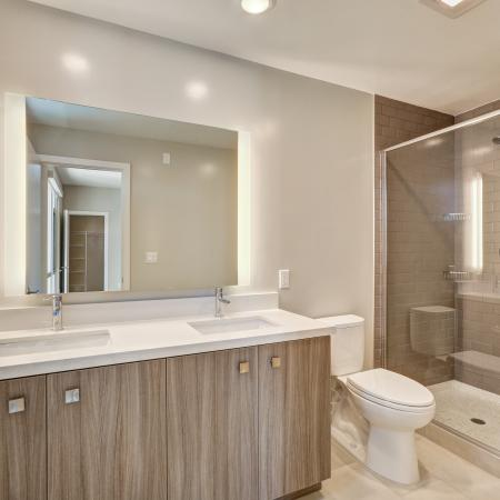 Townhome bathroomat L Seven Apartments in San Francisco CA