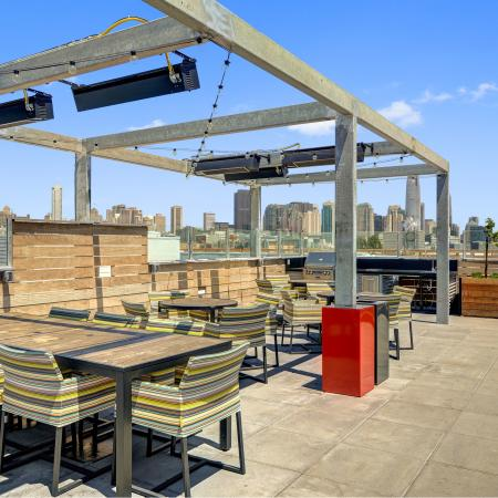 BBQ terrace grill at L Seven Apartments in San Francisco CA