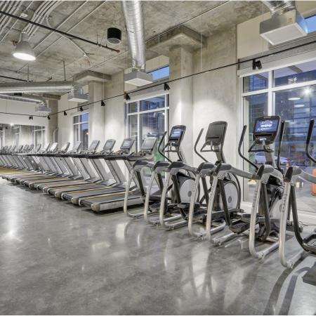 Fitness Center Cardio Equipment at L Seven Apartments in San Francisco CA