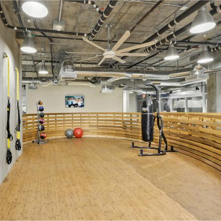 Fitness Center TRX Training Wall at L Seven Apartments in San Francisco CA
