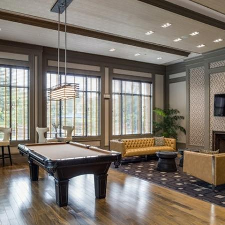 Billiards table at 17 Barkley Apartments in Gaithersburg, MD