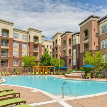 Pool with sundeck at 17 Barkley Apartments in Gaithersburg, MD
