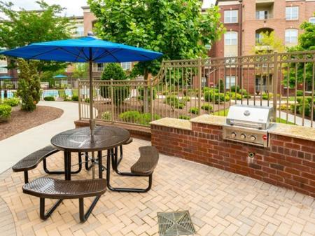 BBQ grills at 17 Barkley Apartments in Gaithersburg, MD