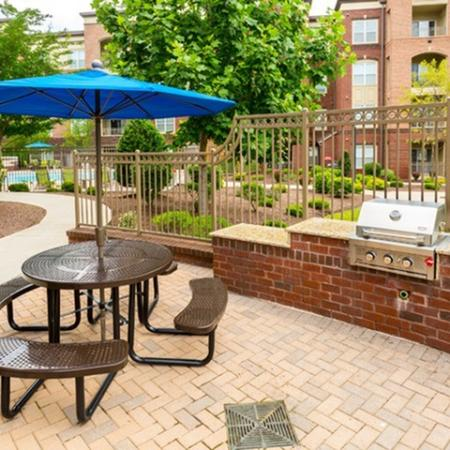 BBQ grills at 17 Barkley Apartments in Gaithersburg, MD