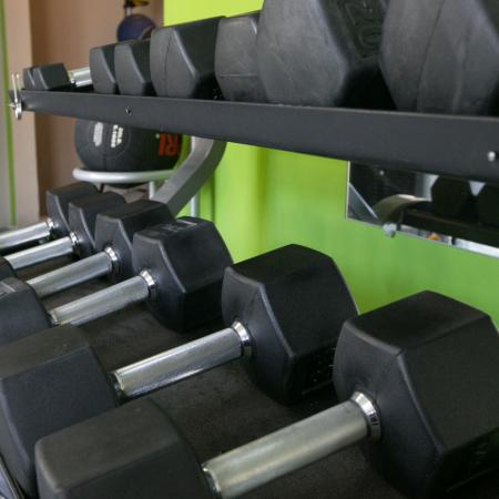 Free weights at Williamsburg Townhomes in Sagamore Hills, Ohio