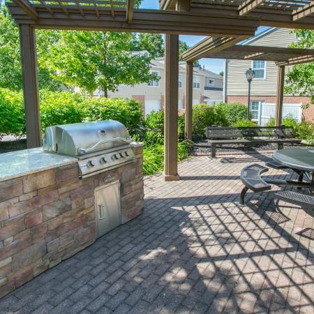 Second grilling station at Williamsburg Townhomes in Sagamore Hills, Ohio