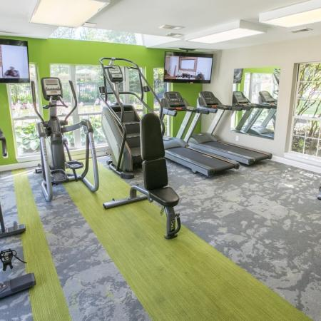 Fitness Center at Williamsburg Townhomes in Sagamore Hills, Ohio