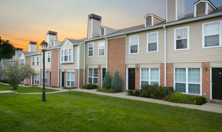 Townhomes with private entrance at Williamsburg Townhomes in Sagamore Hills, Ohio