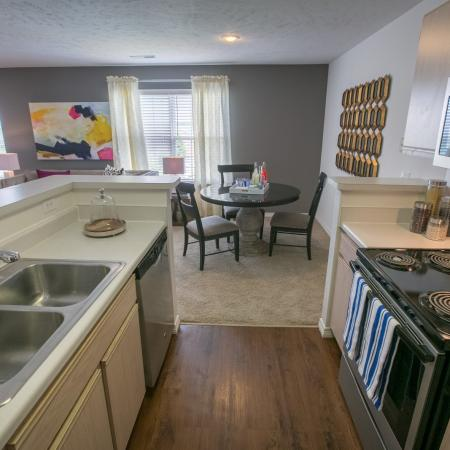 Updated kitchens at The Residence at Barrington in Aurora, OH