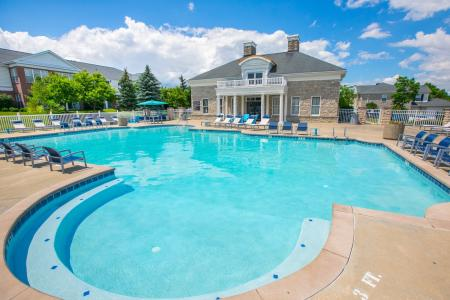 Swimming pool at The Residence at Barrington in Aurora, Ohio