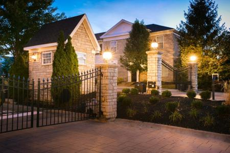 Gated community at The Residence at Barrington in Aurora, Ohio