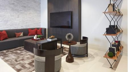 Social lounge at Mave Apartments in Stoneham, MA