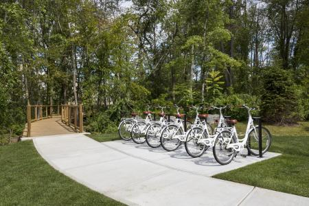 Take in the surroundings and take advantage of our complimentary Bike Share program at Talia Luxury Apartments in Marlborough, MA