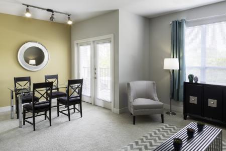 Private patio or balcony at Talia Luxury Apartments in Marlborough, MA
