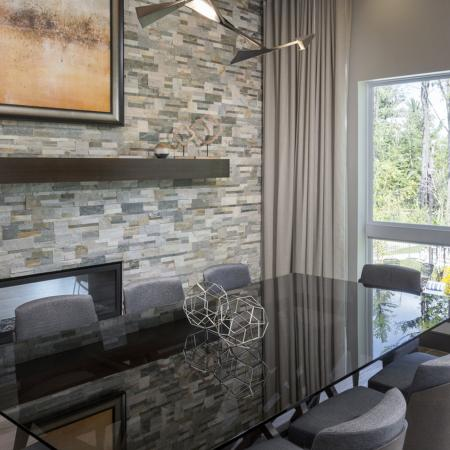 Unwind in the library equipped with complimentary WiFi at Talia Luxury Apartments in Marlborough, MA