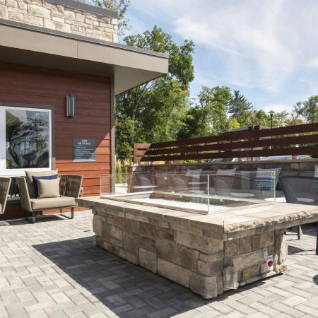 With several outdoor lounges you're able to escape and reflect at Talia Luxury Apartments in Marlborough, MA