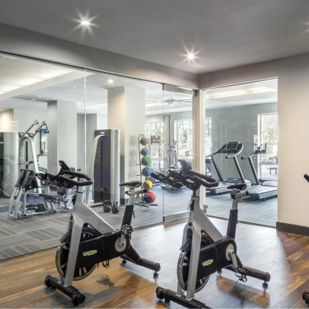 Stay fit using our state-of-the-art fitness equipment and virtual spin studio at Talia Luxury Apartments in Marlborough, MA
