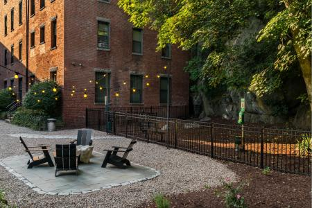 Pet park at Baker Chocolate Factory Apartments in Boston, MA